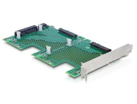 "PCI Express Kaart - 2x 2.5"" HDD Slot Voeding: 2x 15p SATA + 22p SATA"