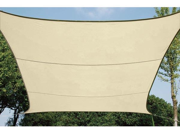 Vierkantig zeil doek 5 x 5m vierkantig zeil doek kleur champagne afmetingen 5 x 5m - Terras zeil ...