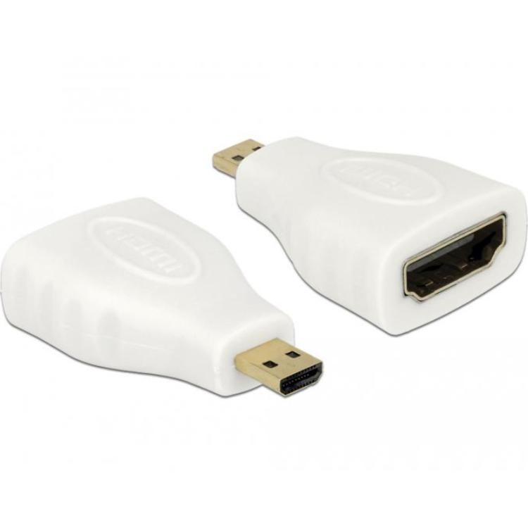 HDMI A-D Verloopstekker Verguld