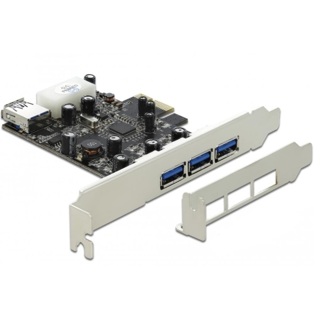 PCI express kaart  - USB 3.0 Voeding: 4-Polig Molex
