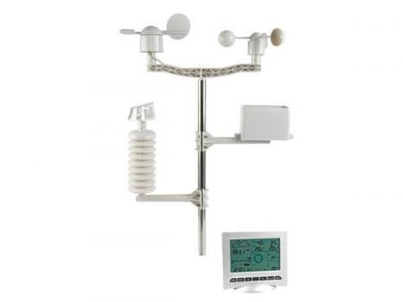 weerstation met zender op zonne-energie en pc-interface ...