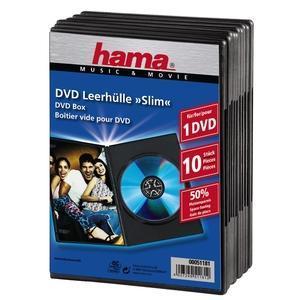 Image of 1x10 Hama DVD-cases Slim 51181