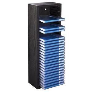 hama cd rack 30 zwart compacte houten box voor het opbergen van 30 cd s geschikt voor. Black Bedroom Furniture Sets. Home Design Ideas