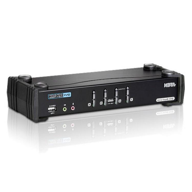 Image of 4-Poorts USB DVI KVM Schakelaar Met Audio - Aten - Aten