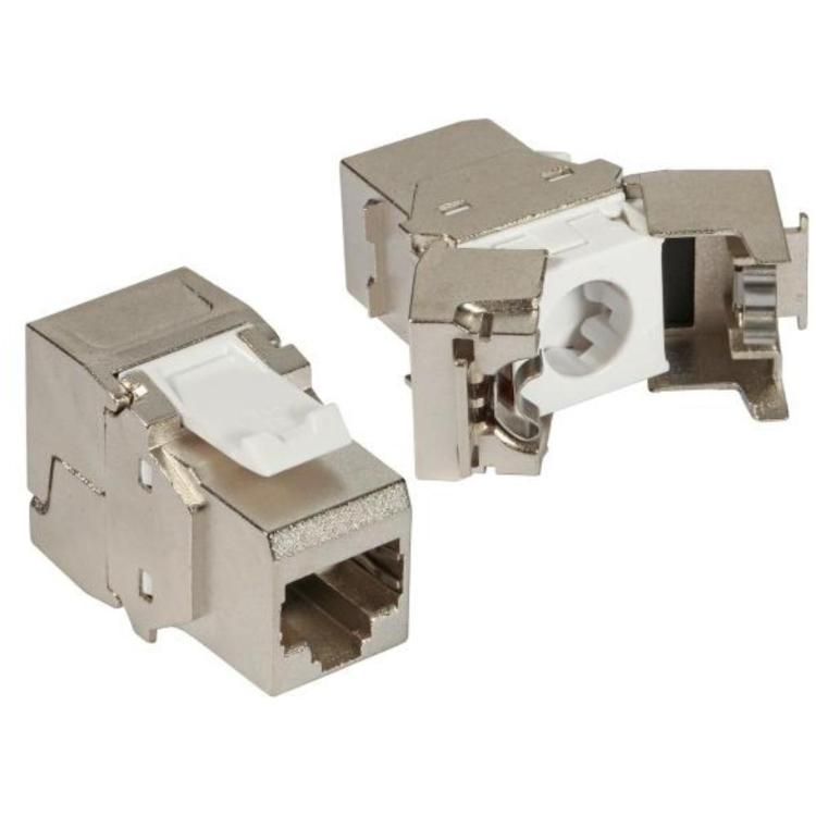 Cat.6 RJ45 module, Die-cast housing Type: Cat.6 RJ45 Keystone Module STP