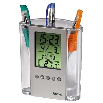 Image of Hama Lcd Thermometer & Pen Holder