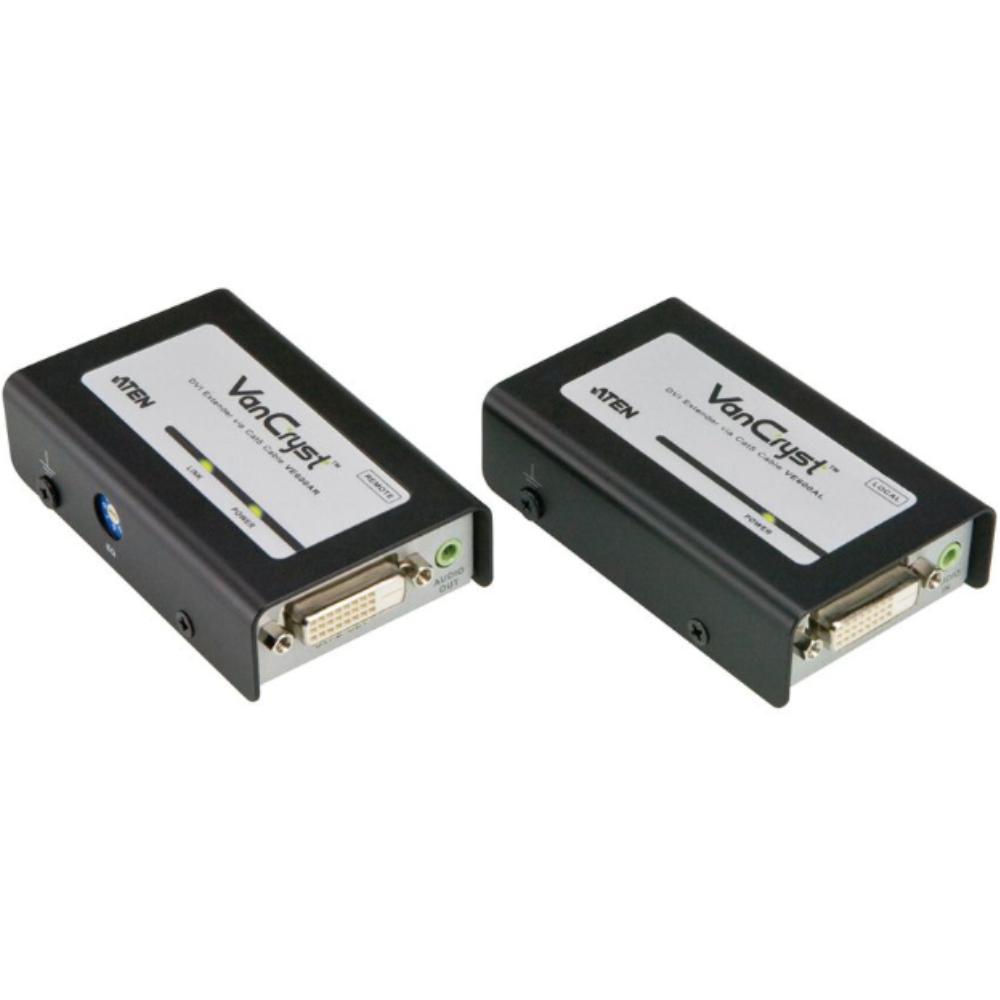 DVI-D met Audio verlenger via utp - Aten Ontvanger: UTP RJ45 naar DVI-D Female