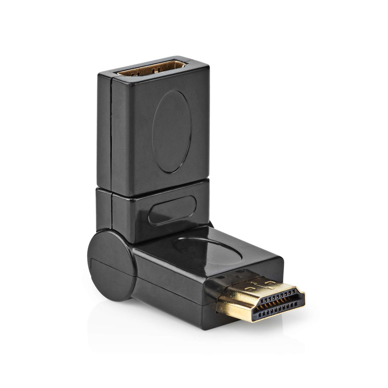 HDMI A-A Verloopstekker 360° DRAAIBAAR Verguld: Ja