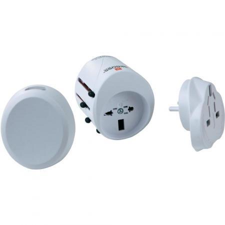 Wereld Reisstekker Met USB Oplaadfunctie - Skross Merk: Skross - World Adapter Classic USB