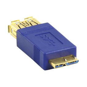 USB 3.0 A - Micro USB B Verloopstekker Aansluiting 2: micro USB B Male