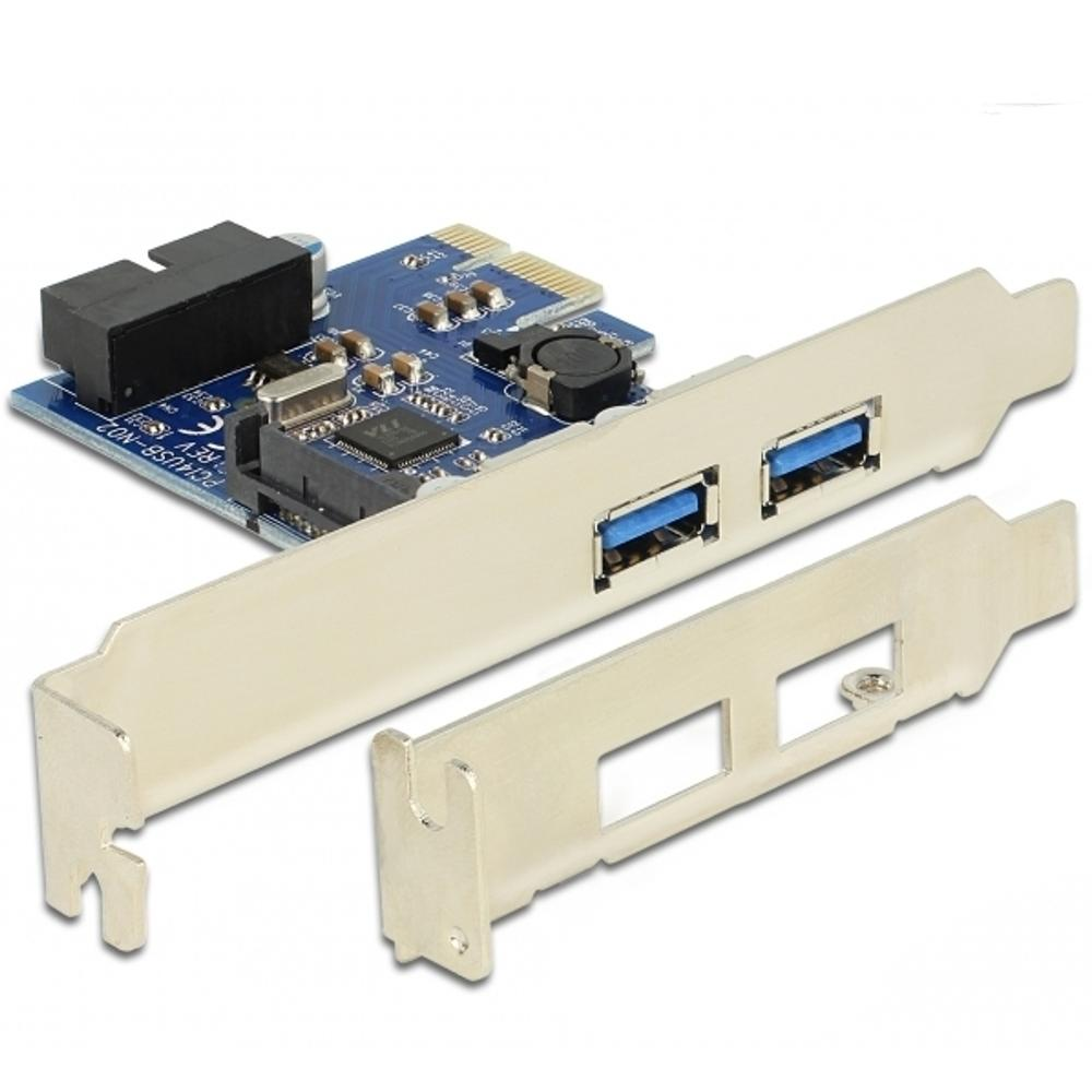 PCI EXPRESS KAART - 2X USB 3.0 Voeding: Sata power connector,
