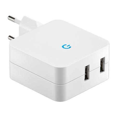 Einzigen Socket-2-x USB Goobay