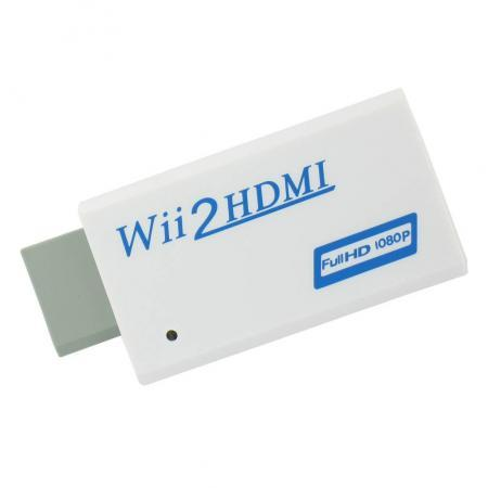Wii naar HDMI omvormer Uitgang: HDMI, AUX (audio)