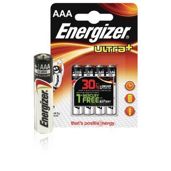 Energizer Batterij Ultra+ Type-AAA Minipenlite Lr03 1,5volt 4st