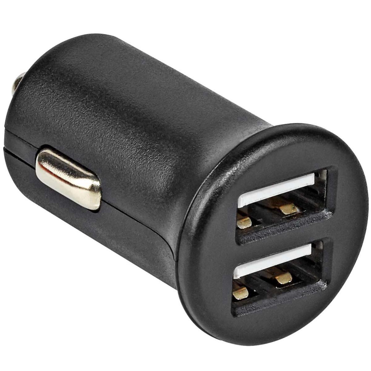 USB Lader iPhone 6 Plus - Autolader USB Uitgaande stroomsterkte 2x USB: 1050 mA