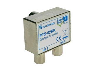 Technetix-Tratec Opsteek TV Splitter Uitgang: 2x Coax female