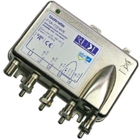 Antenne versterker - Actief retour - Professioneel - 4 uitgangen Versterking: 16 dB