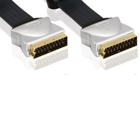 Platte Scart kabel 20 meter