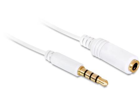 Kabel Klinke 3,5mm ST-BU 4Pin IPhone 5,0m wei? Delock Delock