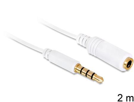 Kabel Klinke 3,5mm ST-BU 4Pin IPhone 2,0m wei? Delock Delock