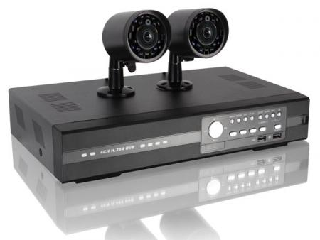 CCTV-PACK: H.264 DVR + 2 IR-CAMERA