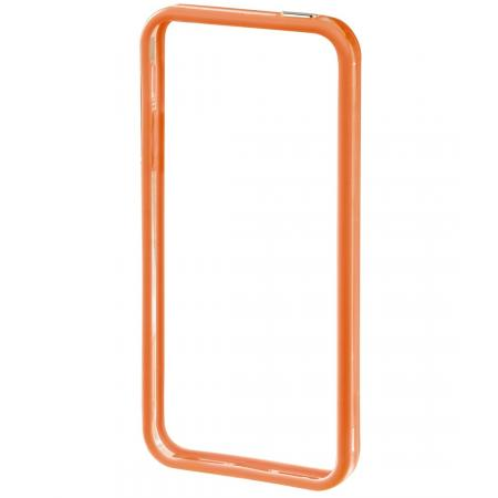 iPhone 5 - Edge Protector Kleur: Oranje/Transparant