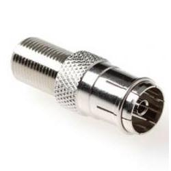 Technetix-Tratec F naar Coax Verloopstekker Aansluiting 2 : F-Connector Female