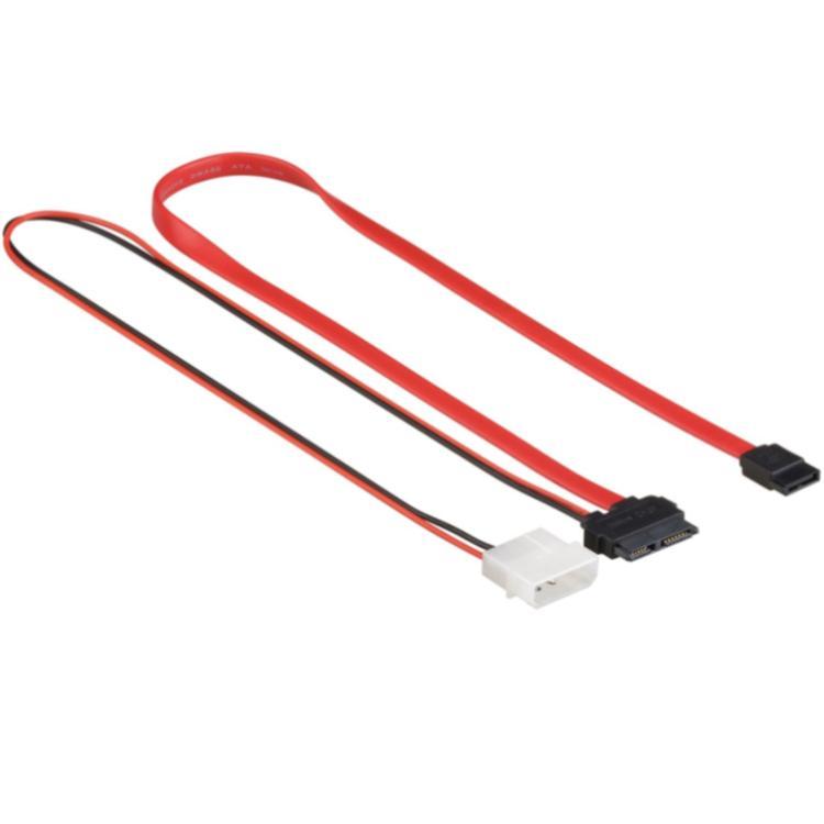 SATA kabel met voeding 0.30 meter