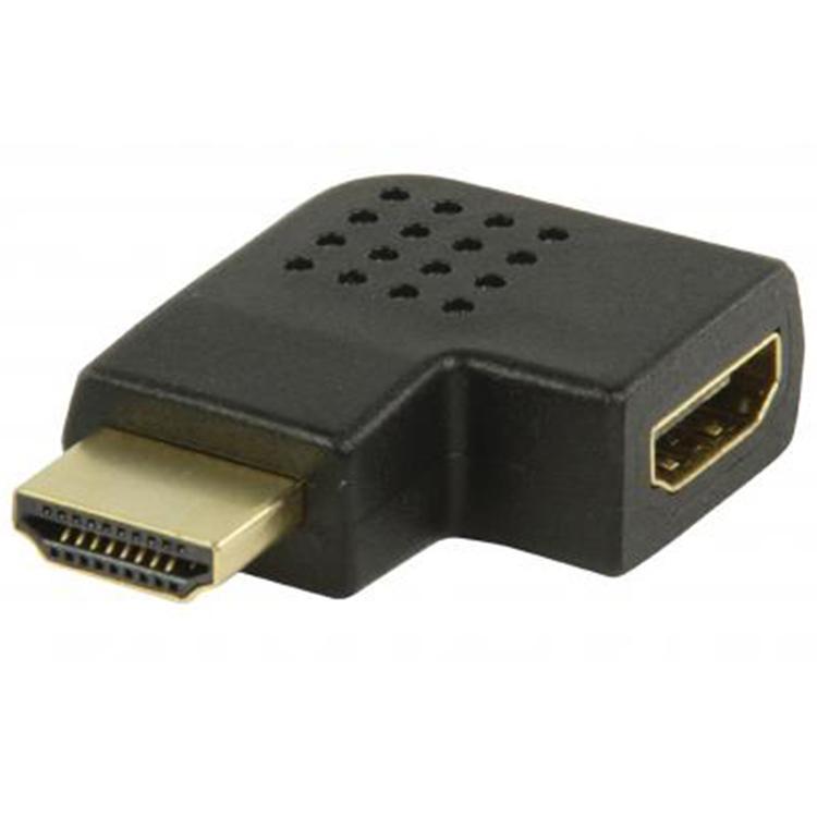 HDMI A-A Verloopstekker - Haaks naar links Verguld: Ja
