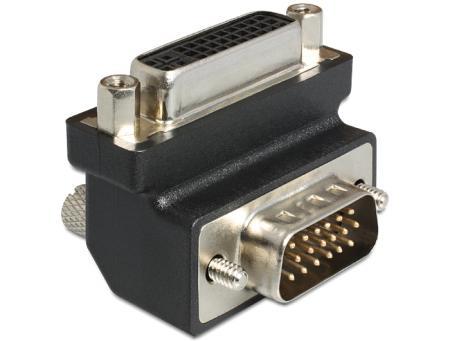 Image of Adapter DVI 24+5 Bu > VGA-St(15) 90 gewinkelt - Delock