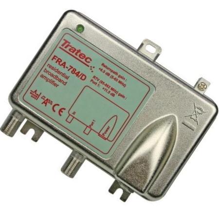 Antenne versterker - Actief retour - Professioneel - 1 uitgang Versterking: 12,5 dB