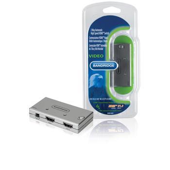 Image of 2-Poorts HDMI Schakelaar Zilver