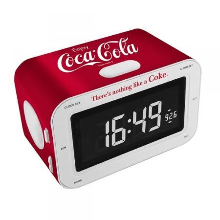 COCA COLA RR30-2B CLOCK RADIO Klokradio met fraaie Coca Cola uitstraling