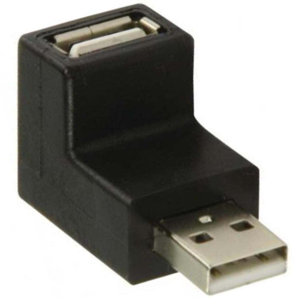 Haakse USB verloopstekker Aansluiting 2: USB A Male