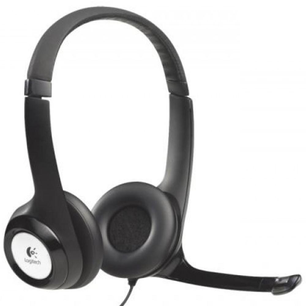 Logitech Headset black H390 USB schwarz