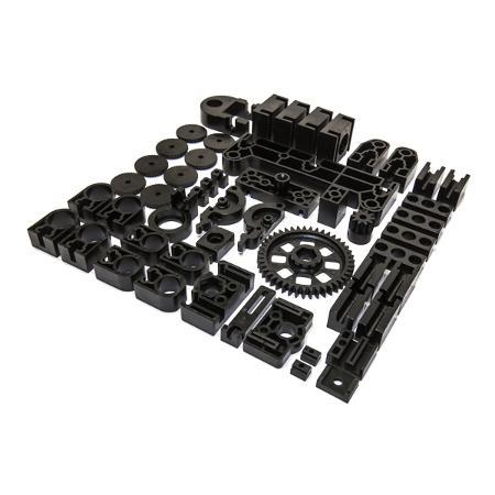 Image of 3D-Printer - Zwarte plastic onderdelen - Velleman