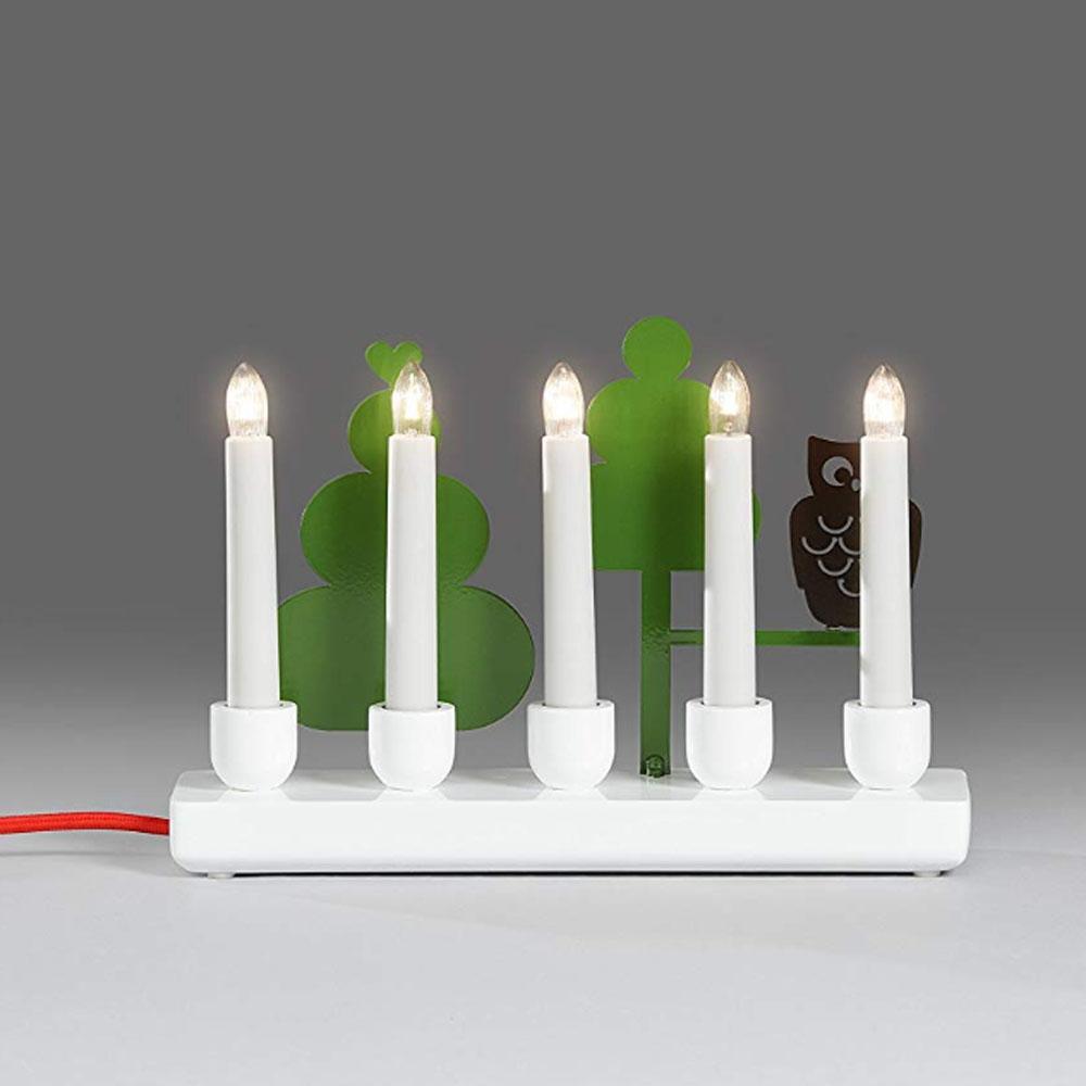 Kerst Kandelaar Afmeting: H18,7 x B26,5 cm