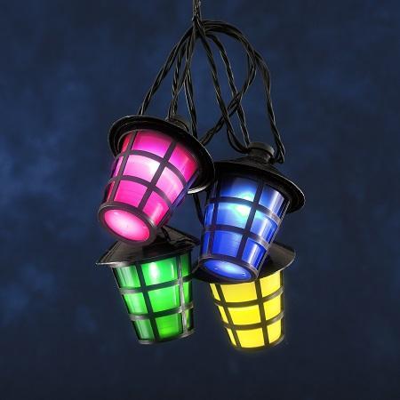 Image of Konstsmide Feestverlichting LED lampion lichtsnoer 4162-500 LED Bont LED vast ingebouwd