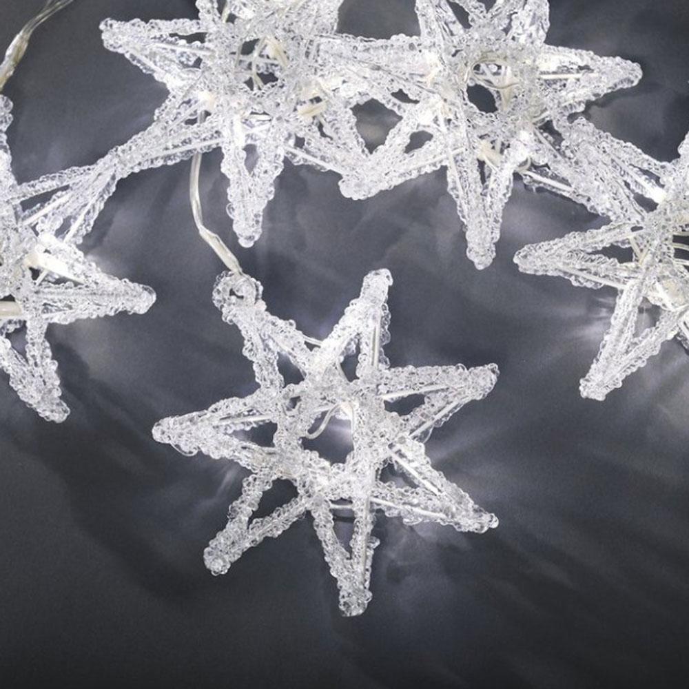 Kerst Decoratieverlichting - Ster Verlichte Lengte: 4 Meter