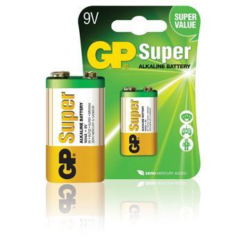 Batterij alkaline 9 V Super 1-blister - GP