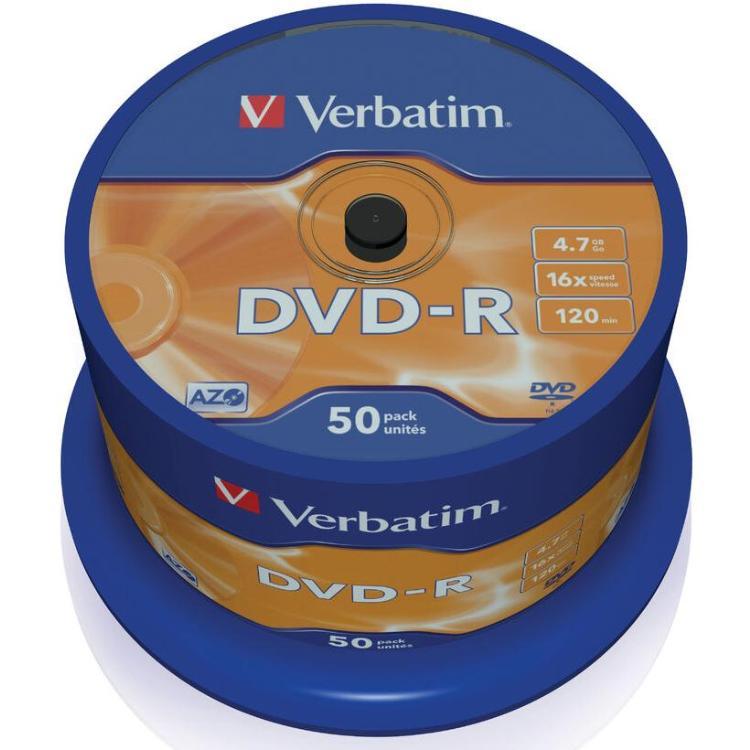 Image of DVD-R - 50 stuks - Verbatim