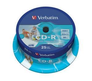 Image of 1x25 Verbatim CD-R 80 / 700MB 52x Speed, Data Life plus prin
