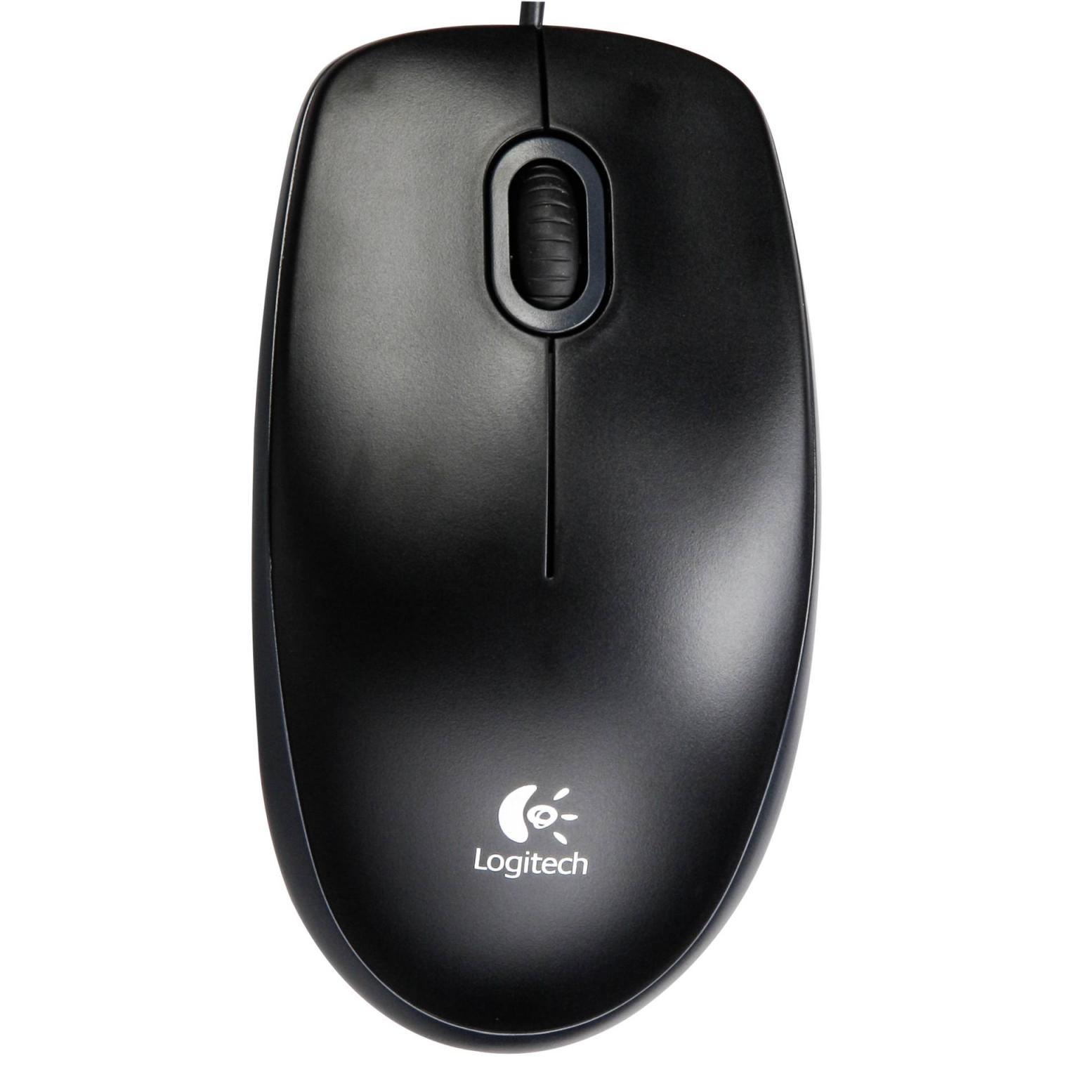 Logitech Maus B100 optical USB Mouse schwarz Kabel 1,80m USB 2.0