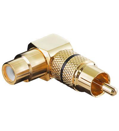 Image of Adapter Audio Cinch Stecker-> Cinch Buchse abgew. FR sw. Delock - Qual