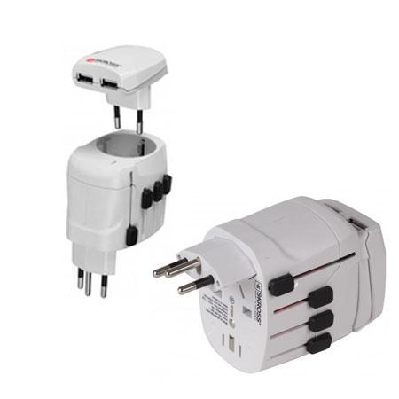 Wereld Reisstekker Met USB Oplaadfunctie - Skross Merk: Skross - Pro USB