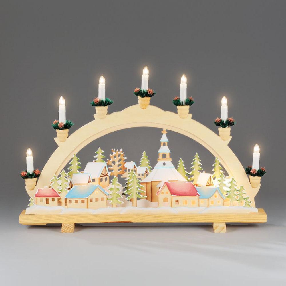 Kerst Kandelaar Afmeting: H36 x B57 cm