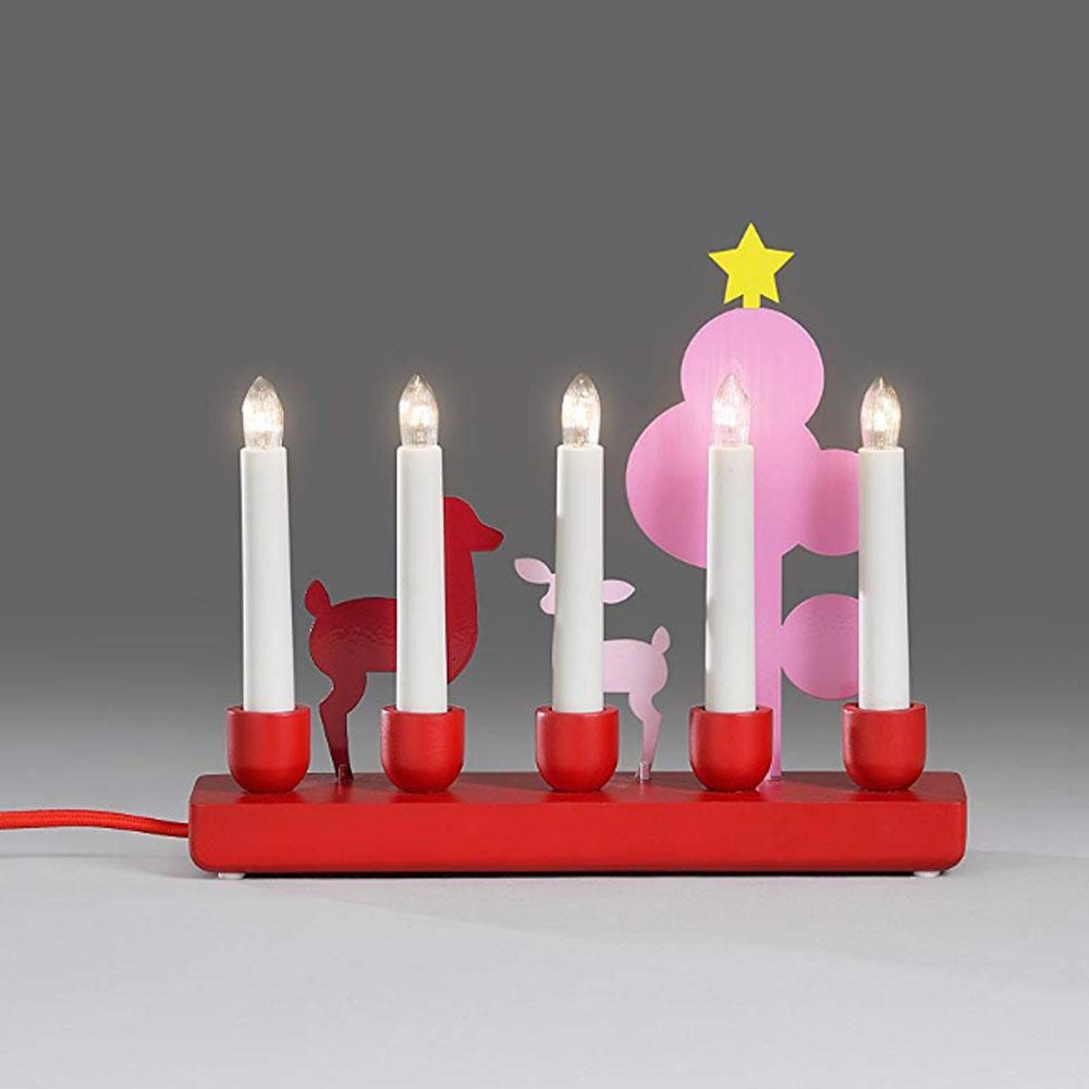 Kerst Kandelaar Afmeting: H22,4 x B26,5 cm