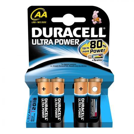 Duracell Batterij Ultra Lr6 Type-AA Penlite Mx 1500 4stuks