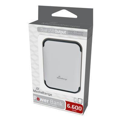 MEDIA RANGE MR742 Dual USB Ladegerät Powerbank 6.600mAh