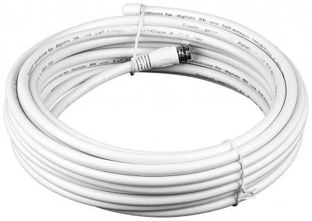 Koaxial Kabelset, 2 x F-Stecker, 1 X Hülse<br>10m, 2 X geschirm